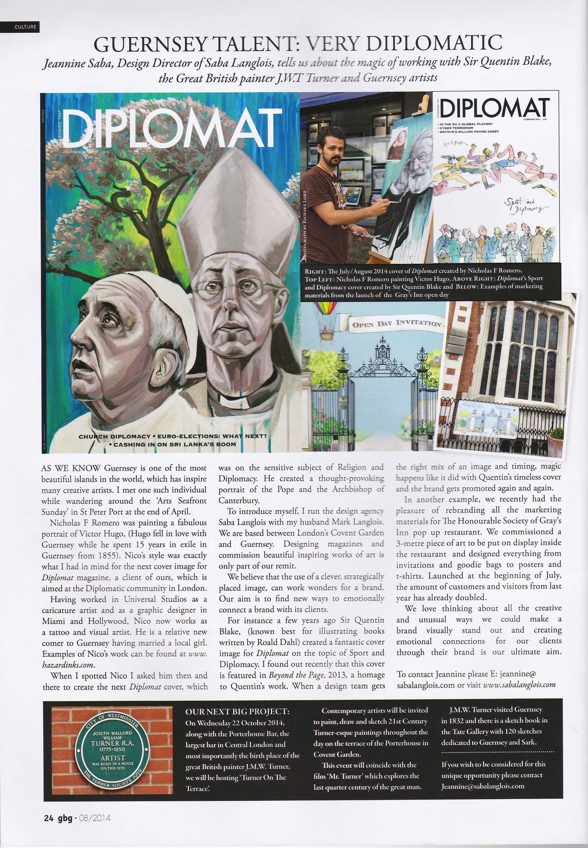 GBG magazine article on Saba Langlois